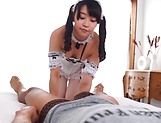 Ai Minano loves passionately riding on a huge meaty pole
