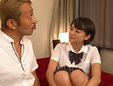 Schoolgirl Aoyama Mirai is fucked hard missionary picture 12