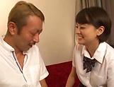 Schoolgirl Aoyama Mirai is fucked hard missionary picture 14