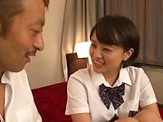 Schoolgirl Aoyama Mirai is fucked hard missionary