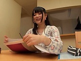 Handjob diva Aya Miyazaki loves the taste of hot cock picture 9
