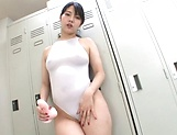 Japanese AV Model plays with toys in both her holes  picture 14