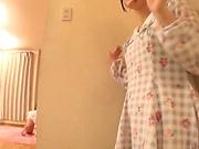 Horny Aya Miyazaki in solo masturbation event
