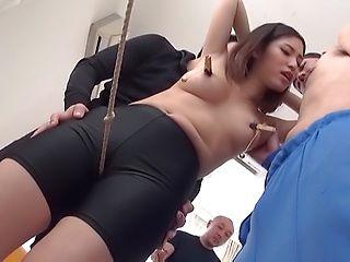 Kinky petite babe Mizushima Anjou enjoys hot bondage sex