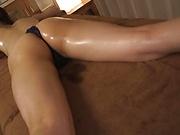 Lusty beauty Yuikawa Chihiro enjoys her pussy wet