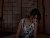 Beautiful Asian babe Ayane Suzukawa in handjob session picture 1