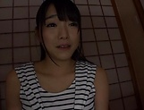 Beautiful Asian babe Ayane Suzukawa in handjob session picture 4