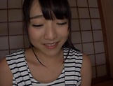 Beautiful Asian babe Ayane Suzukawa in handjob session picture 5