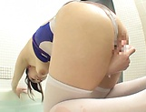 Arisu Amane pleasing her sweet cunt in a wild solo