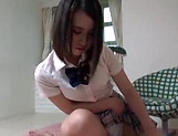 Spicy gives an awesome school girl handjob