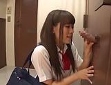 Hot teen babe Saitoui Miyu in kinky threesome scene