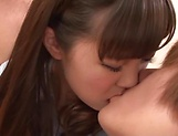 Kinky Threesome sex scene involving hot Asian cutie