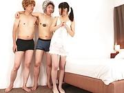 Yuuki Mayu , looks sexy in white stockings