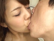 Reina Hashimoto is fucked hard by two horny dudes