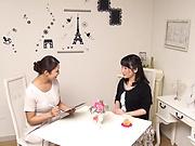Naughty Asian mature women in raunchy lesbian scene indoors