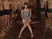 Hakii Haruka ,gets multiple cumshots on her face