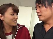 Cute Asian teen Hikaru Kakitani in hardcore gang bang