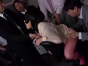 Big tits Asian Shibuya Kaho gets her shaved pussy nailed