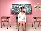 Foxy teacher with nice tits Emiri Toda in wild steamy fuck picture 11
