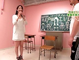 Foxy teacher with nice tits Emiri Toda in wild steamy fuck picture 15
