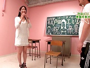 Foxy teacher with nice tits Emiri Toda in wild steamy fuck