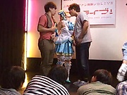 Kinky Gang bang session involving hot Ai Uehara