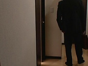 SExy Shiraki Yuuko flashes her tits when sucking cock