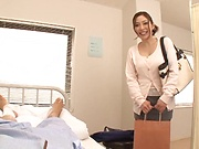 Shiraki Yuuko naughty POV oral with a hot guy