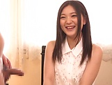 Hot Japanese amateur Yuuki Aina gives a steamy blowjob picture 15