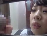 Alluring Asian honey Saitou Miyu in  blowjob scene indoors