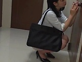 Alluring Asian honey Saitou Miyu in  blowjob scene indoors picture 11