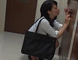 Alluring Asian honey Saitou Miyu in  blowjob scene indoors picture 12
