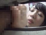 Alluring Asian honey Saitou Miyu in  blowjob scene indoors picture 13