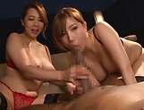 Amazing cock sharing scenes along two hot beauties