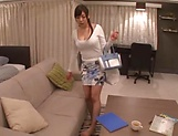 Naughty Japanese babe Fujii Arisa playing porn queen