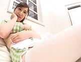 Chubby babe Mikoto Narumiya enjoys showing her big tits picture 14