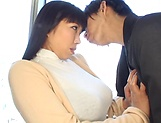 Big tits milf Nozomi Mikimoto enjoys her boobs squeezed picture 3
