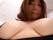 Babe in wet clothing Chie Nakamua penetrated wildly