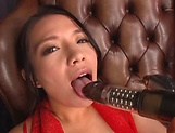 Mako Oda, gets naughty on a dildo picture 12