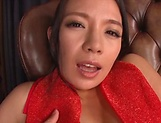 Mako Oda, gets naughty on a dildo picture 6