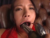 Mako Oda, gets naughty on a dildo picture 9