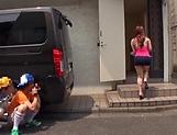 Cute Rion Nishikawa enjoys a kinky cunnilingus picture 12