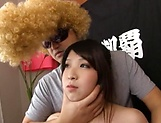 Tokyo lass Amayoshi Shizuku gives a double head well