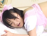 Feisty Asian babe Kaho Shibuya in raunchy toy action