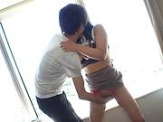 Japanese chick Nozomi Mikimoto gets tit fucked