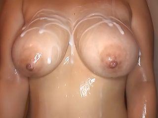 Nana Kiyotsuka gets a worthy cum on tits