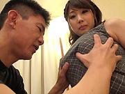 Big tits beauty Kirishima Sakura  getting a tittyfuck