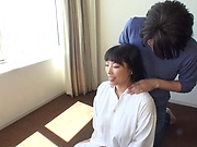 Amazing busty milf Nozomi Mikimoto in load moans