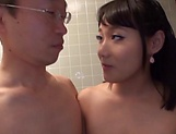 Hot Asian milf Shibuya Kaho shows huge tits during sex picture 14