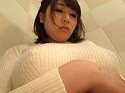 Kirishima Sakura in the bathroom masturbating